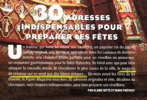 Article Galerie Bettina Flament Figaro Magazine Noël 2014