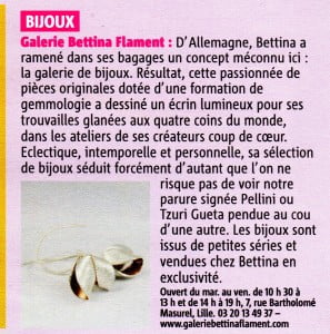 Article Galerie Bettina Flament Metrocity avril 2014