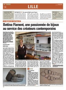 Article Bettina Flament Voix du Nord 24 décembre 2013